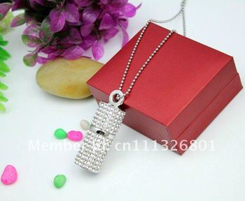 Free shipping by DHL/EMS+Free boxes!The diamond jewelry stick USB flash drive.8G 100% real memory usb Free Drop shopping!