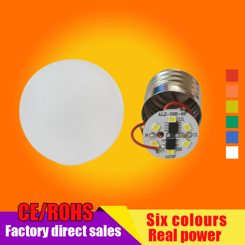 6colors SMD 2835 Lampada Led E27 Light Bulb 3W LED Lamp 220V Cold Warm White Bulb Led Spotlight Lamps Lights For Home Use(China (Mainland))