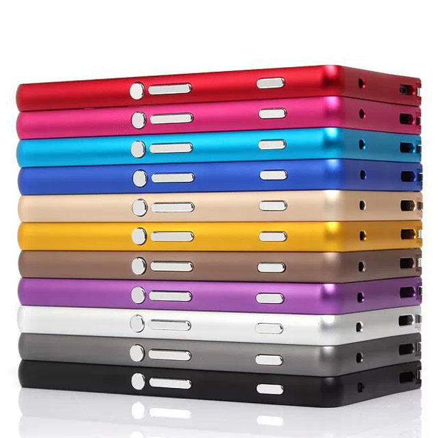 High Quality Hard Ultra Slim Circle Aluminum Bumper Metal Buckle Frame For SONY Xperia Z3 mini Z3 Compact With Buttons 30pcs/lot(China (Mainland))