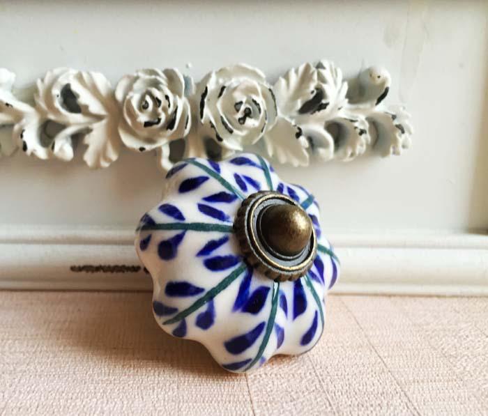 Large size Kitchen Handles Pull Drawer Knobs Ceramic Pumpkin Door Cabinets Cupboard Hardware w/Screws