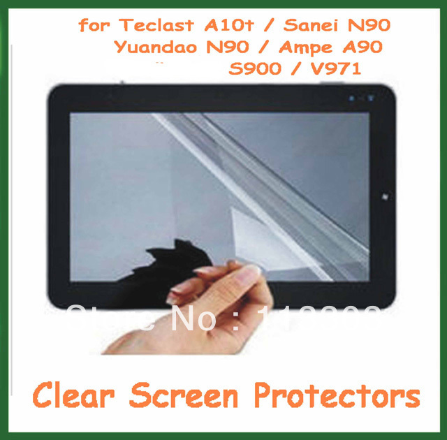 5pcs Clear Screen Protector Full-screen 237x184mm for Teclast A10t / Sanei N90 / Yuandao N90 / Ampe A90(China (Mainland))