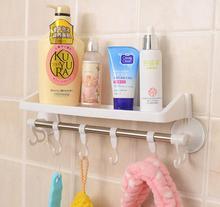 Suction cup storage shelf wall bathroom towel rack wall Bathroom Shelves