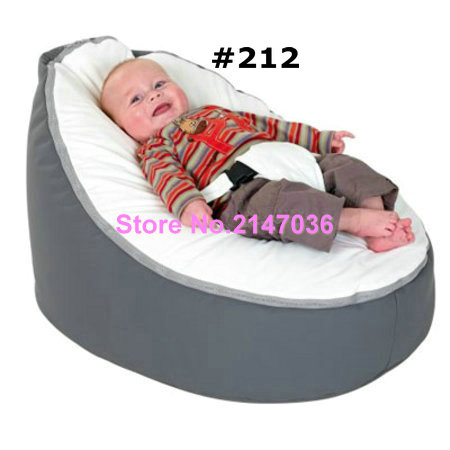 Grey with white seat infant Baby Bean Bag Snuggle Bed Portable Seat Nursery Rocker Without Filling(China (Mainland))
