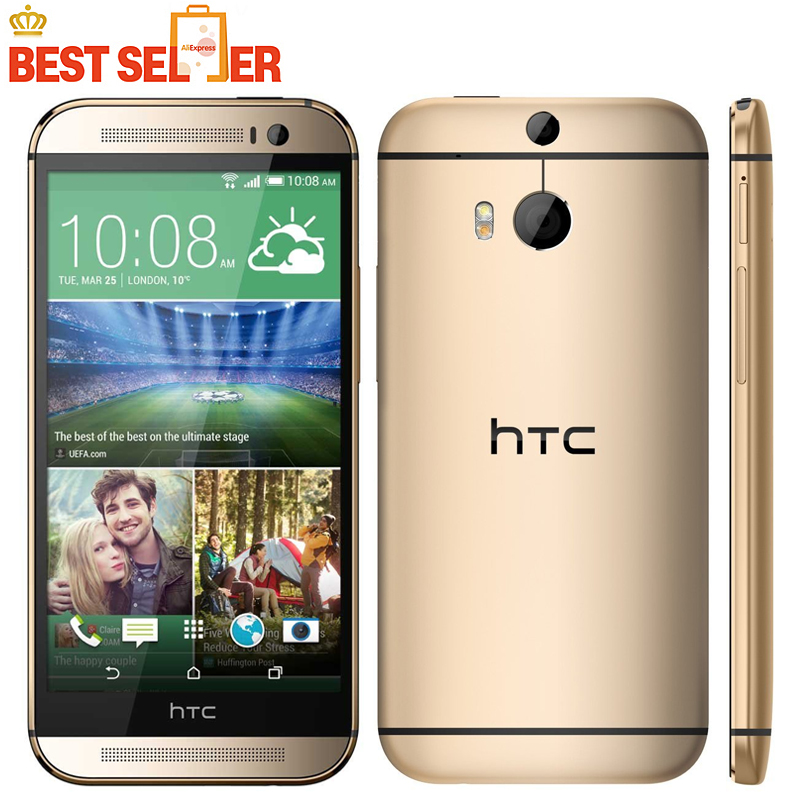 "Original HTC ONE M8 Mobile Phone 4G LET 5.0"" Quad Core Android 4.4 RAM 2GB 16GB/32GBROM Bluetooth WIFI NFC Free Shipping(China (Mainland))"