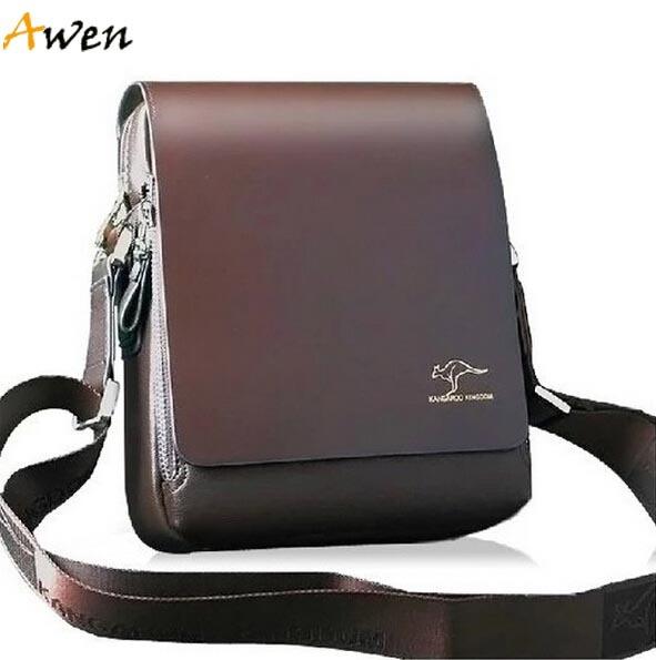 AWEN-free shipping hot sell promotion brand kangaroo mens messenger bag,vintage casual mens leather bag,classic mens bag(China (Mainland))