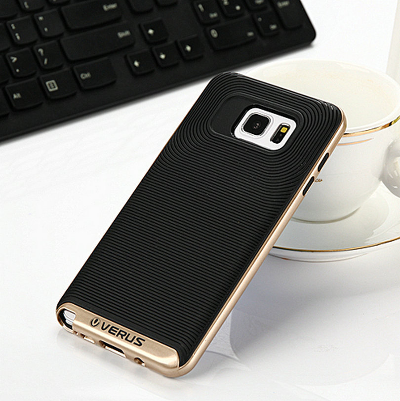 Verus Crucial Bumpers Soft Back Cover PC+TPU Neo Hybrid Case for Samsung Galaxy S7 Plus Phone Bag Bumblebee Cover Wholesale(China (Mainland))