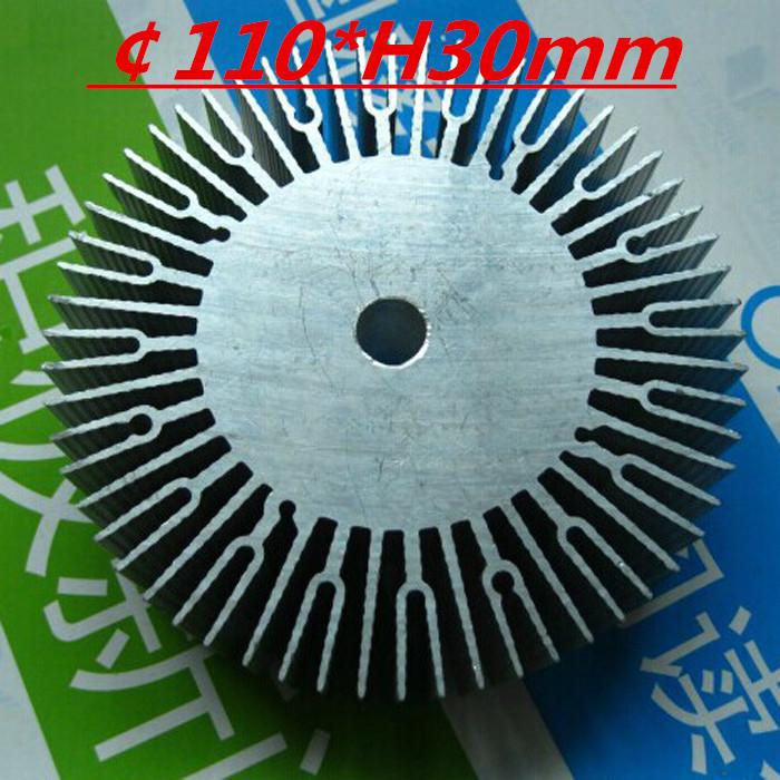 LED heatsink ,Diameter :110mm H:30mm,aluminum heatsink , LED cooler ,LED radiator(China (Mainland))