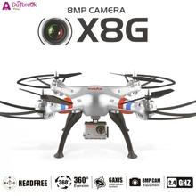 Fashion US Plug Syma X8G 2.4Ghz 6-Axis Gyro 4.5CH RC Quadcopter Drone with Camera 8.0MP HD Quad Copter
