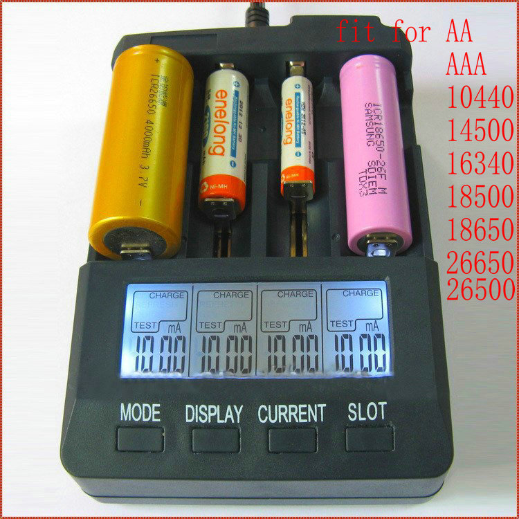 NEW Smart Battery Charger 18650 10440 26650 LR6 LR3 AA AAA LI-ion NiCd NiMh LCD Smart Intelligent Digital Battery Charger Tester(China (Mainland))