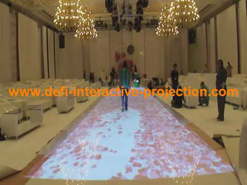 Hot selling free fast shipping DEFI CopyRight Interactive floor projection system and 111 different effects