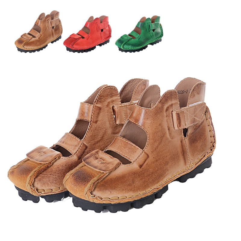 2014 new Hand-made  Rome Style gladiator sandals women   genuine leather flat shoes vintage huarache<br><br>Aliexpress