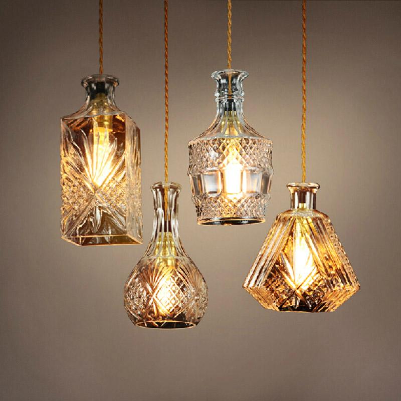 E27 edison Retro Vintage Pendant Lights Glass Lamshade Loft Pendant Lamps for Dinning Room light industrial lighting fixtures(China (Mainland))