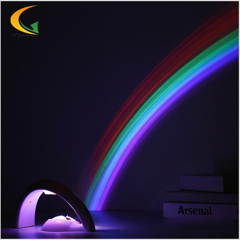 led moon rainbow light projector baby room 3d led night light projector projector novelty products lighting bedrooms(China (Mainland))
