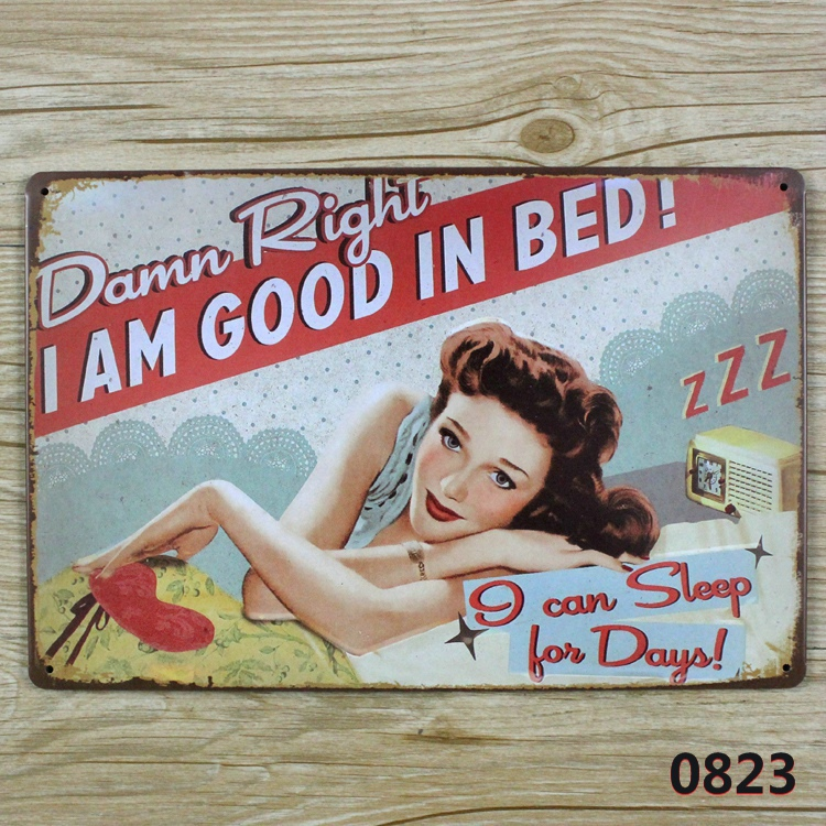 Buy good in bad vintage tin sign bar pub - Retro bad ...