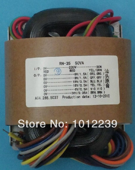 R -Core transformer 50W / 170 V +6.3 V power supply transformer / tubes / 115V-230V International Voltage(China (Mainland))