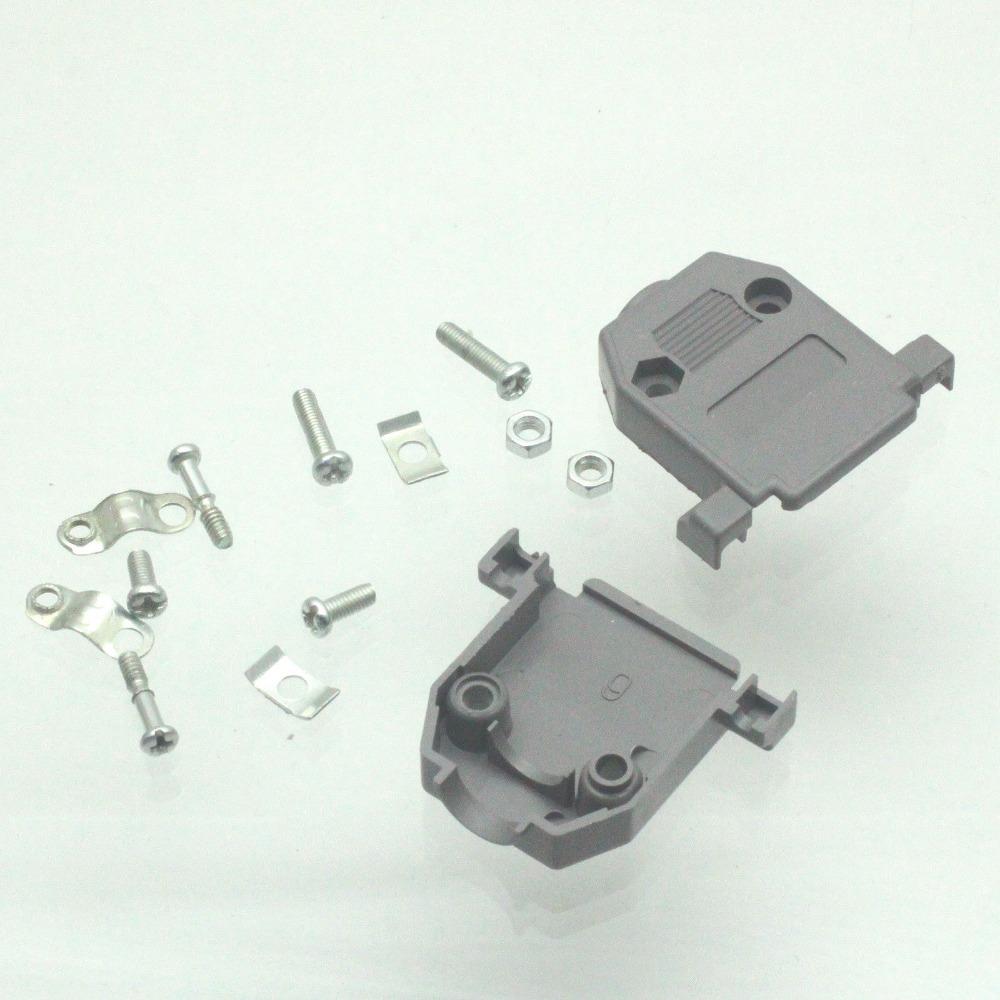 10pcs Plastic Backshell Shell Cover Hood D-SUB for Data Cable HD15 DB15 15 pin(China (Mainland))