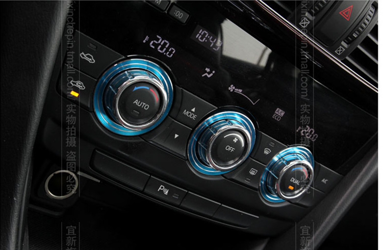 Car Air-condition knobs Aluminum alloy decorative ring cover 3pcs for  Mazda 6 2014 2015 Atenza accessories <br><br>Aliexpress