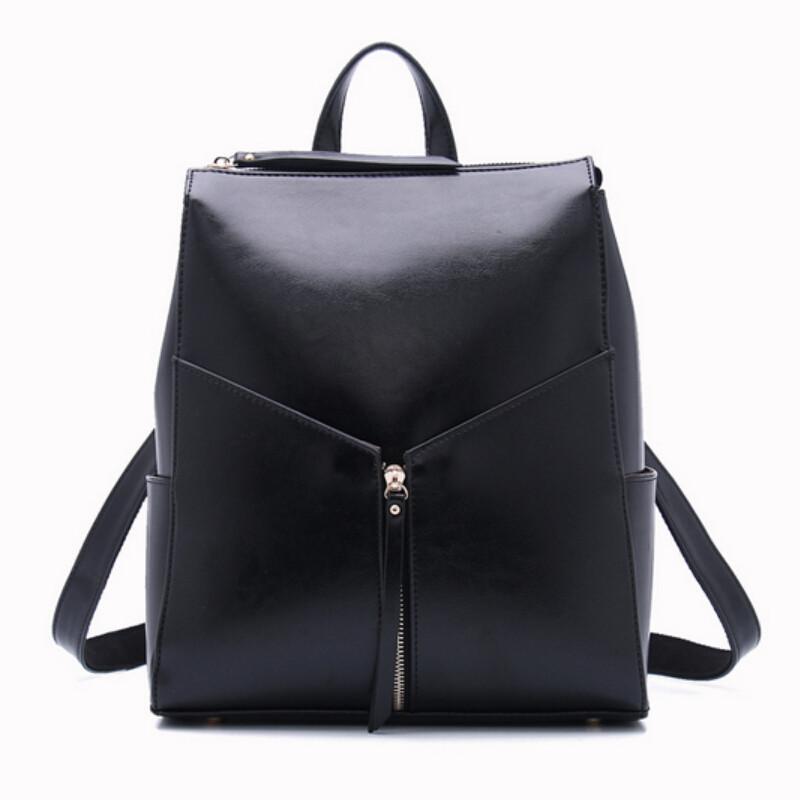 black leather backpack designer brand female office backpacks ladies shoulder bag school bags for teenage girls mochila feminina(China (Mainland))