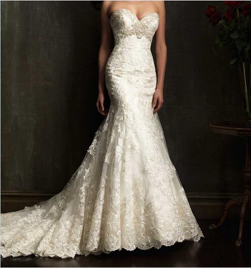 Vintage 2014 new designers white mermaid wedding dresses for Sexy wedding dress designers