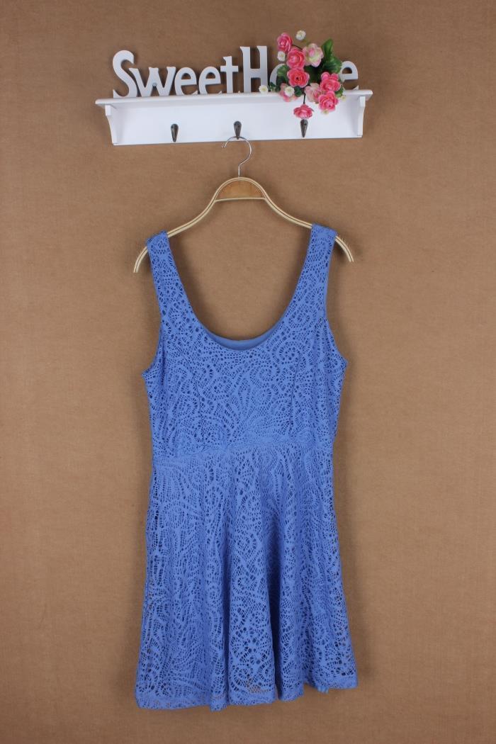 The next lady fashion lace sleeveless dress dress sexy ladies boutique all-match personality(China (Mainland))