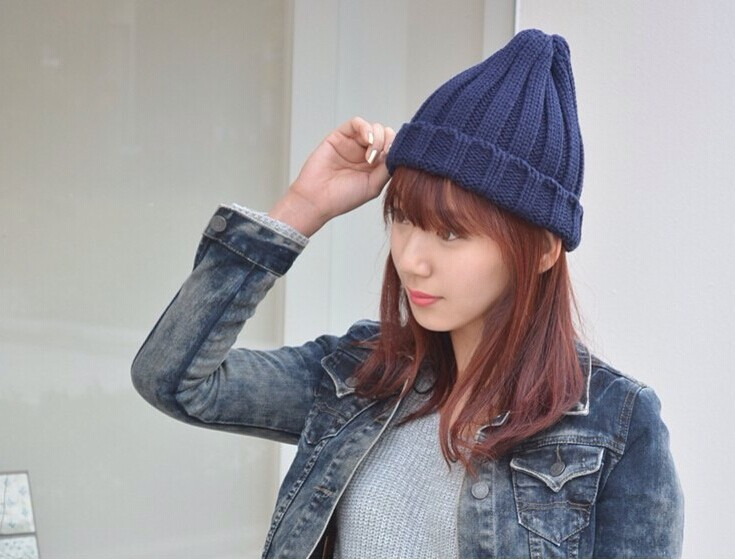 2014 hot sell Men and women fashion candy cap Couples ice cream knitted hat Multicolor wholesale(China (Mainland))