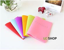 2015 New Arrived 6 Candy Color Dustproof Waterproof Soft Passport Card Holder Silica Gel Part Free Shipping Wholesale(China (Mainland))