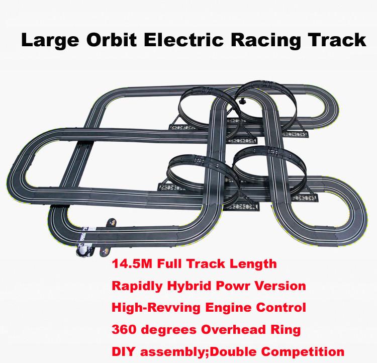cm escala elctrico nios pista de coches de carreras grande hbrido autova juego juguetes educativos juguetes para l