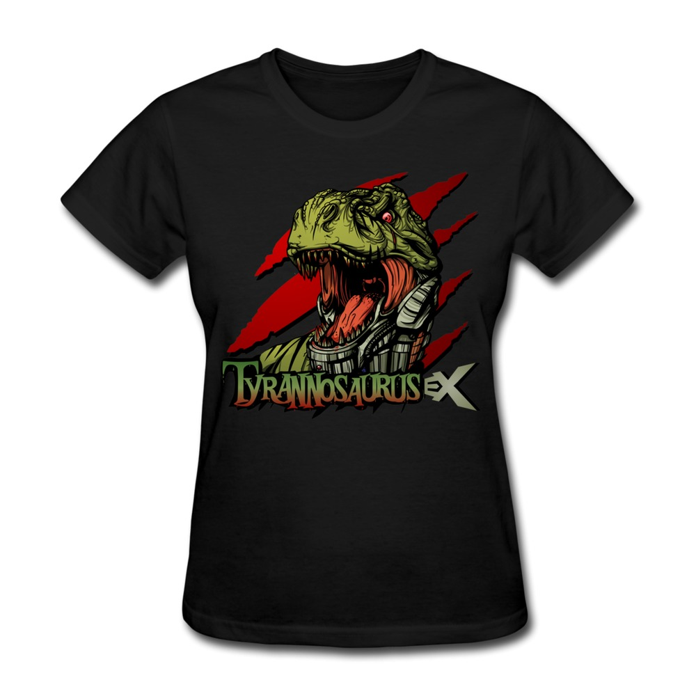 100 % Cotton Tyrannosaurus EX Woman's t-shirt Cheap Price Fashion Women tee shirt(China (Mainland))