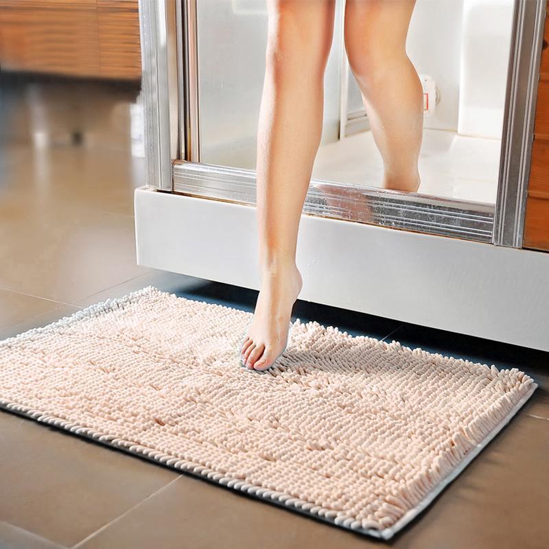 2016 Best Quality Free Shipping Bathroom Floor Mats Shaggy Rugs Doormat Anti Skid Thick Shag