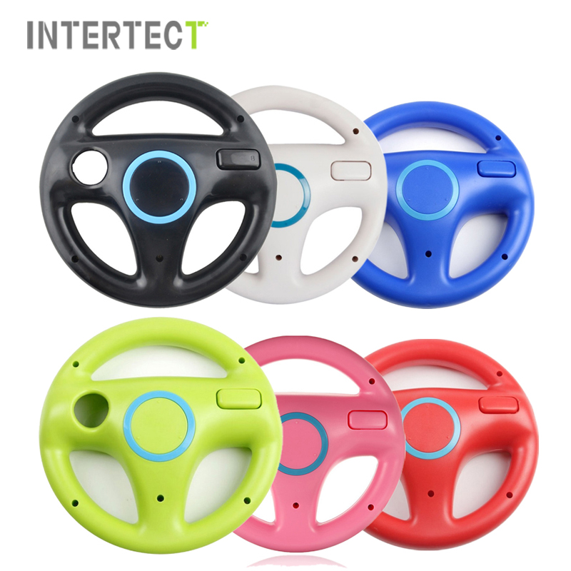 Mario Kart Racing Steering Wheel For Nintendo Wii Game Remote Controller For Wii Roda Remote Control Colorful Game Acessorios(China (Mainland))