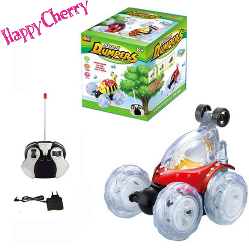 Happy Cherry HUADIFENG Toy RC Stunt Radio Music Remote Control Car Truck Turbo Twister Flip Toy Car with US Plug Charger - Red(China (Mainland))