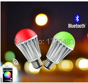 Bluetooth Bluetooth RGB LED bulb bulb IOS Apple Bluetooth phone control intelligent control led light bulb(China (Mainland))