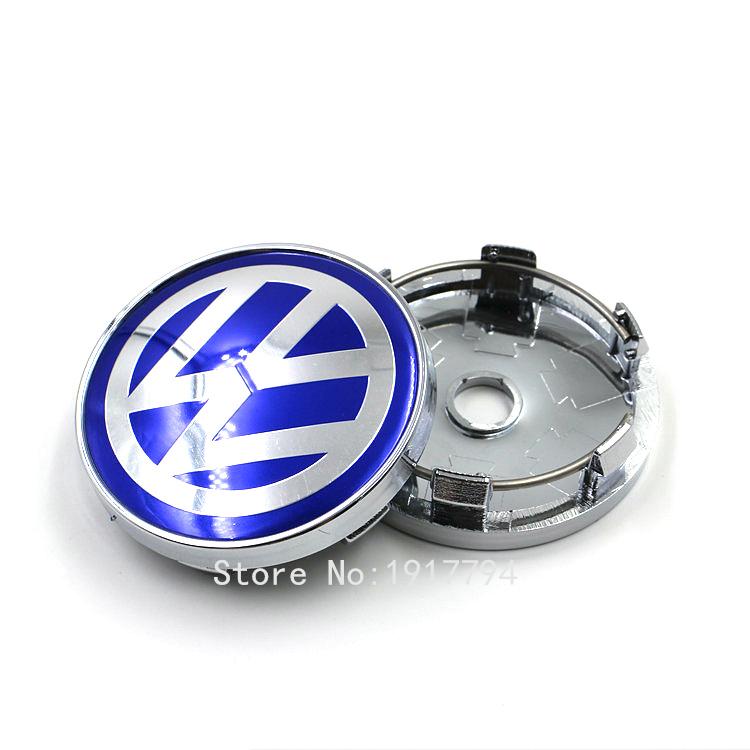 4pcs Alloy VW 60mm wheel center caps Volkswagen BLACK / WHITE for golf gti PASSAT TOURAN car badge emblem<br><br>Aliexpress