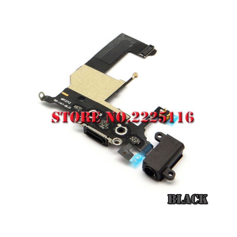 (10 pcs/lot) New charger charging port dock usb data connector flex cable ribbon for iphone 5 5g headphone mic antenna part(China (Mainland))