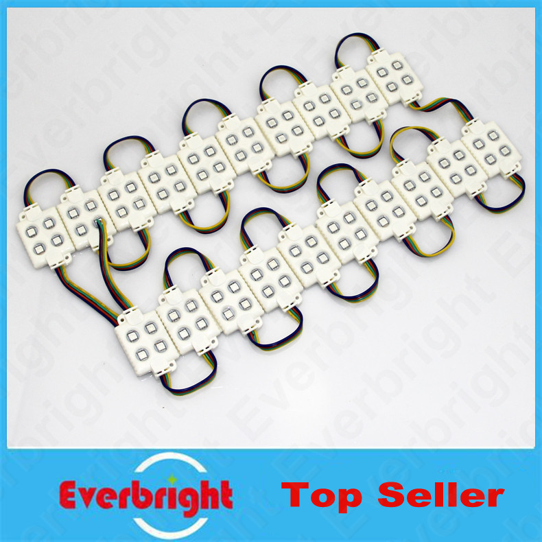 20PCS/Lot 5050 4 LED Module 12V White Warm White Waterproof IP65 High Brightness For Led Channel Letter Advertising Sign(China (Mainland))