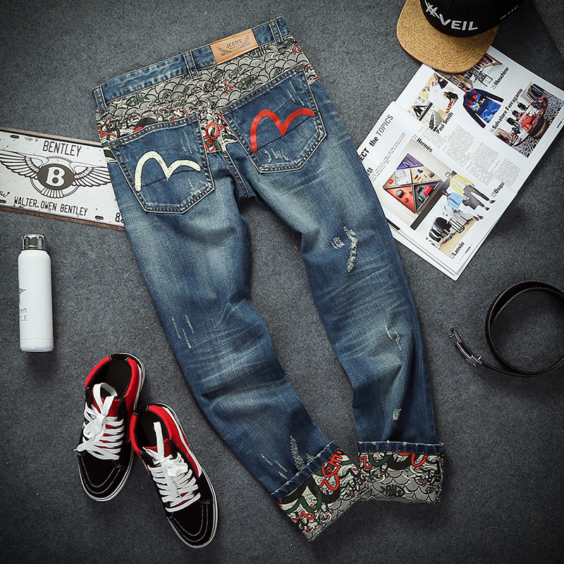 3581 search big fat code patch fashion men's fashion hip-hop spring jeans 28-46P90 pose