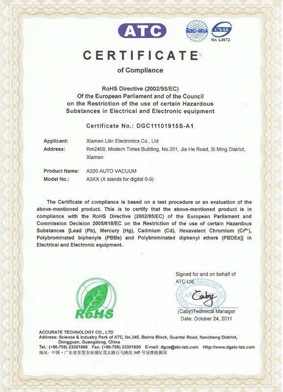 ROHS Certification577