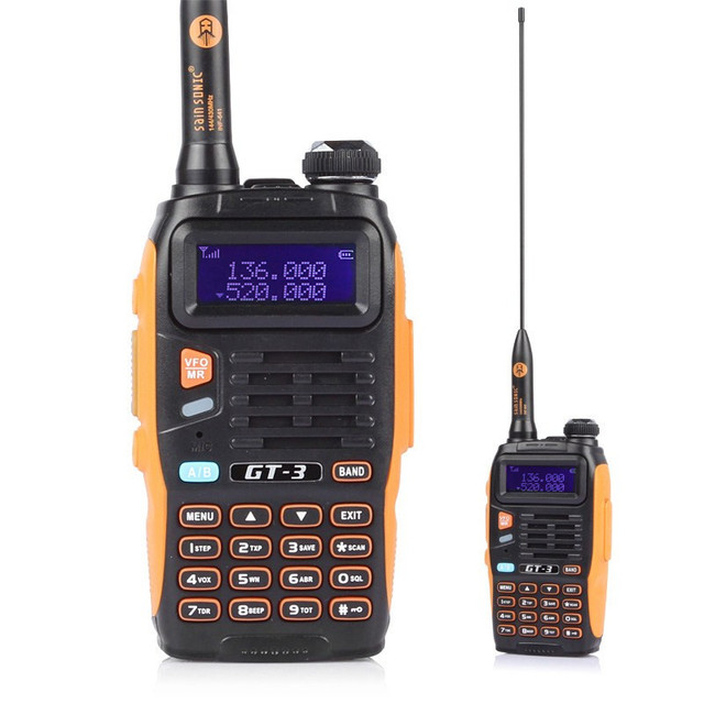 2 Pcs Baofeng GT-3 MarkII Dual Band Programable Walkie Talkie