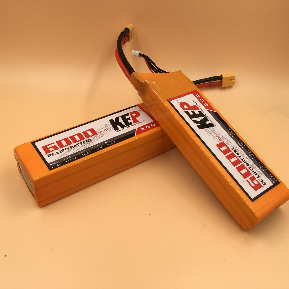 KEP 4S RC Lipo Battery 14.8v 6000mAh 30C Max 60C For RC Aircraft Helicopter Car Drones Boat Quadcopter 4S Li-polymer Batteria