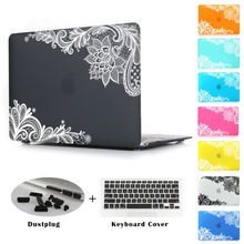 New Fashion For Girls Matte Rubberized Lace Hard Case Cover Macbook Air 13 12 11 Pro 13 15 inch With Retina Laptop Accessories(China (Mainland))