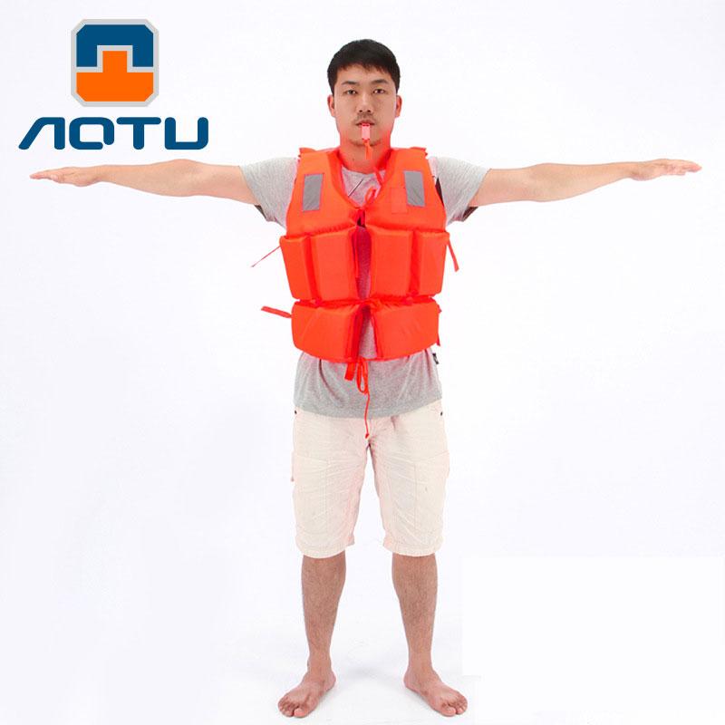 AOTU Professional Lifejacket For Adult Survival Whistle Water Ski Sports Surfing Rafting Boat Canoe Kayak Fishing Life Jacket(China (Mainland))