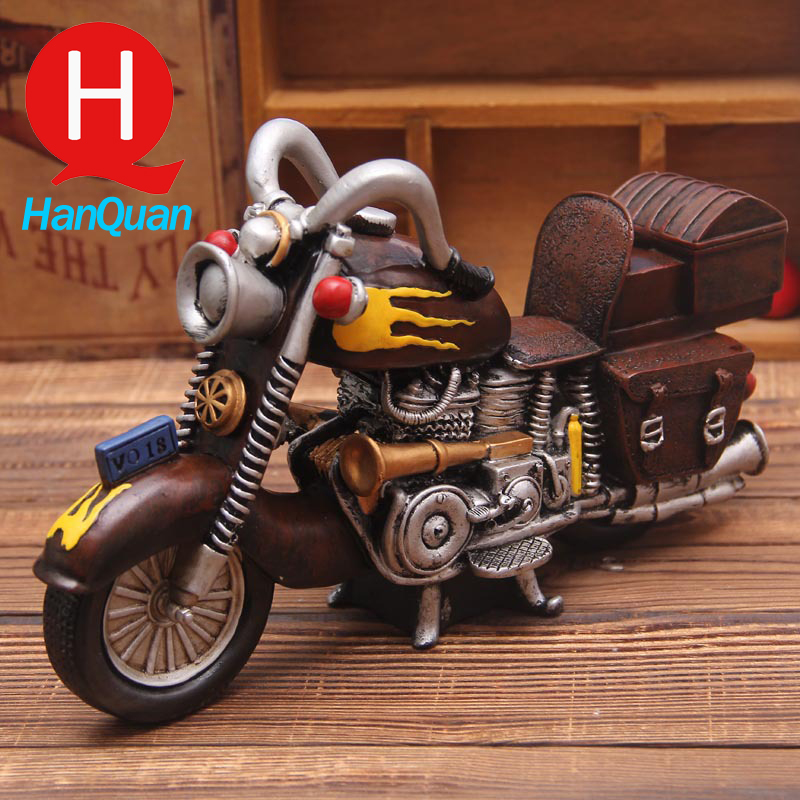 Resin Toy Vintage Cool Scale Motorbike Models Resin Motorcycle Toy for Collection Gift for Kids Craft Antique Imitation Toy(China (Mainland))