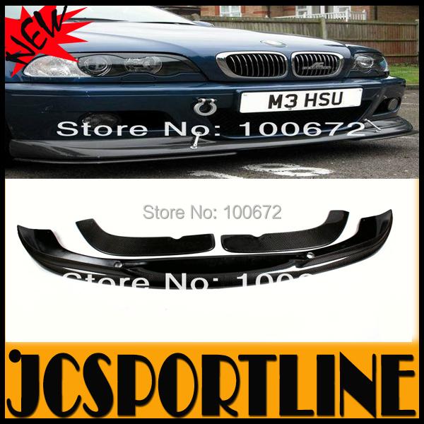2003-2005 3pcs/set AC Style Carbon Fiber E46 Car Front Lips Bumper Splitters For BMW E46 ,fits: M3 Front Bumper(China (Mainland))