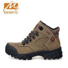 MERRTO Hiking Shoes Woman AntiSlip Chukka Waterproof Genuine Leather Sneaker Outdoor Hiking Sport Camping Shoes Brand #18001(China (Mainland))