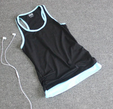 High Quality Breathable Quick Dry Sports Tank Tops Fitness Women Running Training Gym Sleeveless T Shirt Vest(China (Mainland))