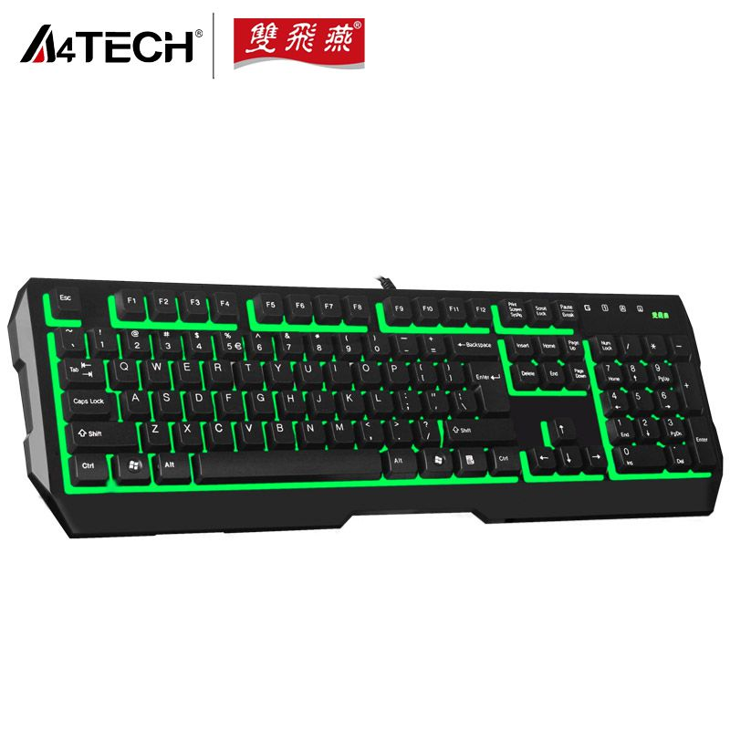 A4TECH K130 Backlit Gaming Mouse, Waterproof Home/Office PC Computer Special PS/2 Port Wired Keyboards for DOTA LOL CF(China (Mainland))