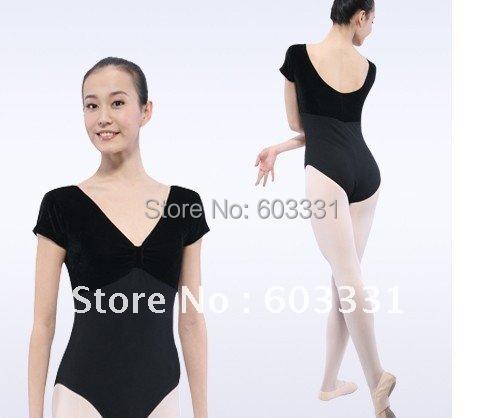 NWT EUROTARD SHORT SLEEVE LEOTARD COT/LYC COLORS WOMEN Gymnastics Dance Practice Leotard Leotards 3 Sizes - dance dress store