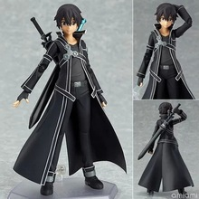 15CM Anime Sword Art Online kirigaya kazuto Figma 174 Sao PVC Action Figure Collectible Model Toy