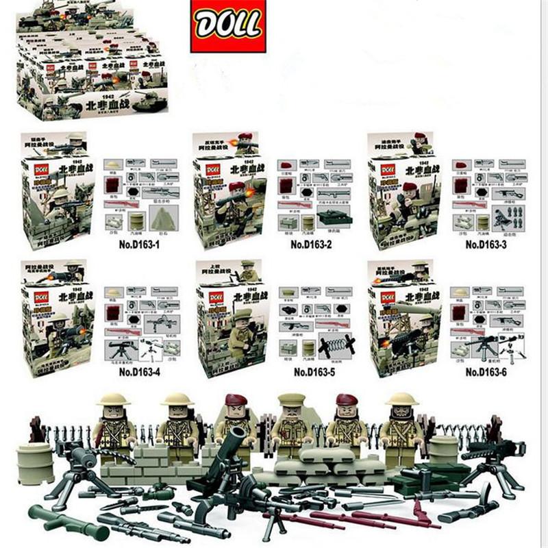 product 6pcs <font><b>WW2</b></font> Anti Fascist Soviet Guards Moscow Battle Military Minifigure Building Block Bricks Legoeddy D164 German US Army Russian