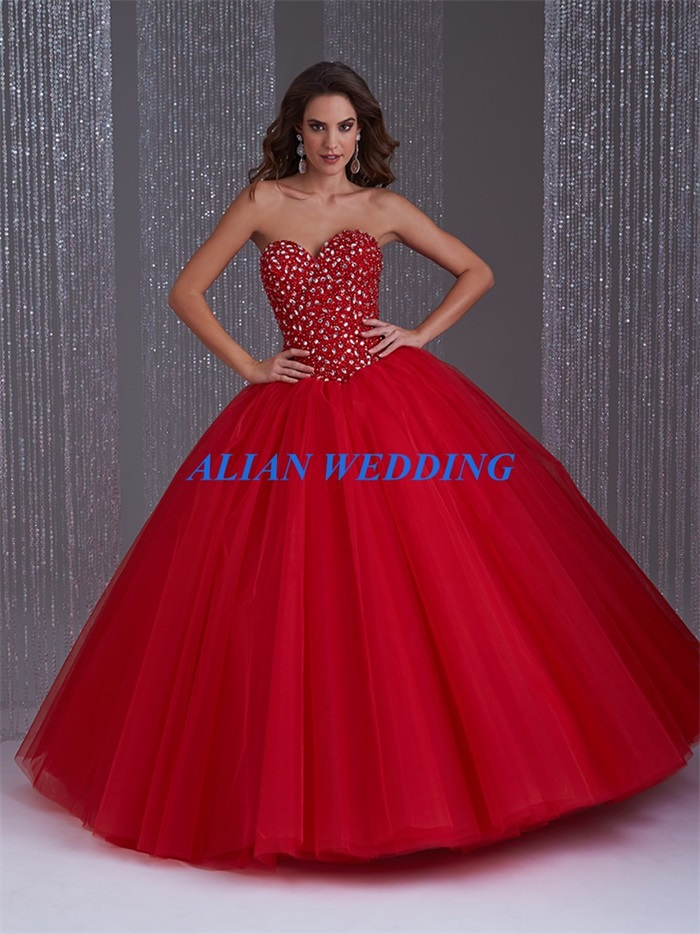 Popular Red Quinceanera Dress 2015-Buy Cheap Red Quinceanera Dress ...